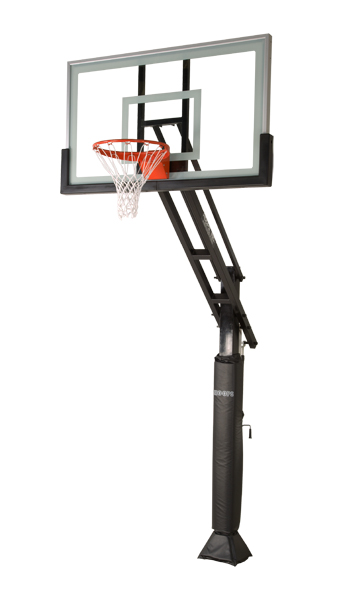 359x600 Side View Of The Complete Basketball System Backyard Ideas
