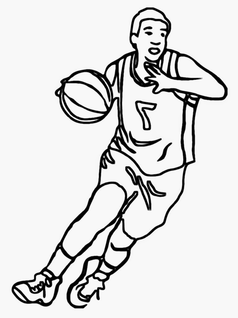 768x1024 Basketball Player Clipart Black And White Craft Projects, Black