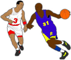 228x192 Moving Clipart Basketball
