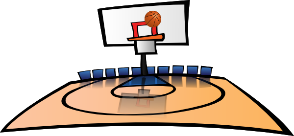 600x278 Basketball Court Clipart