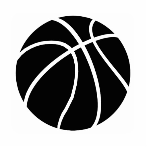 512x512 Black And White Basketball Pictures