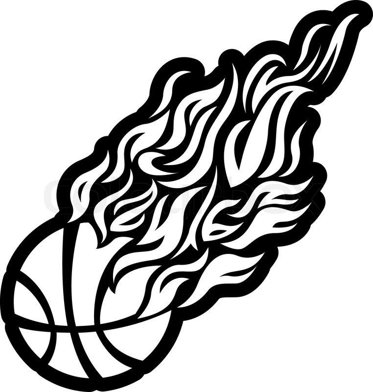 762x800 Vector, Flame, Fire, Ball, Black, Basketball, Symbol, Icon