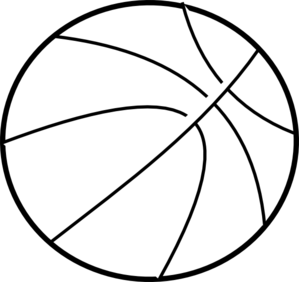 299x282 Basketball Clipart Black And White