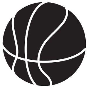 300x298 Basketball Clip Art Black And White Clipart Panda