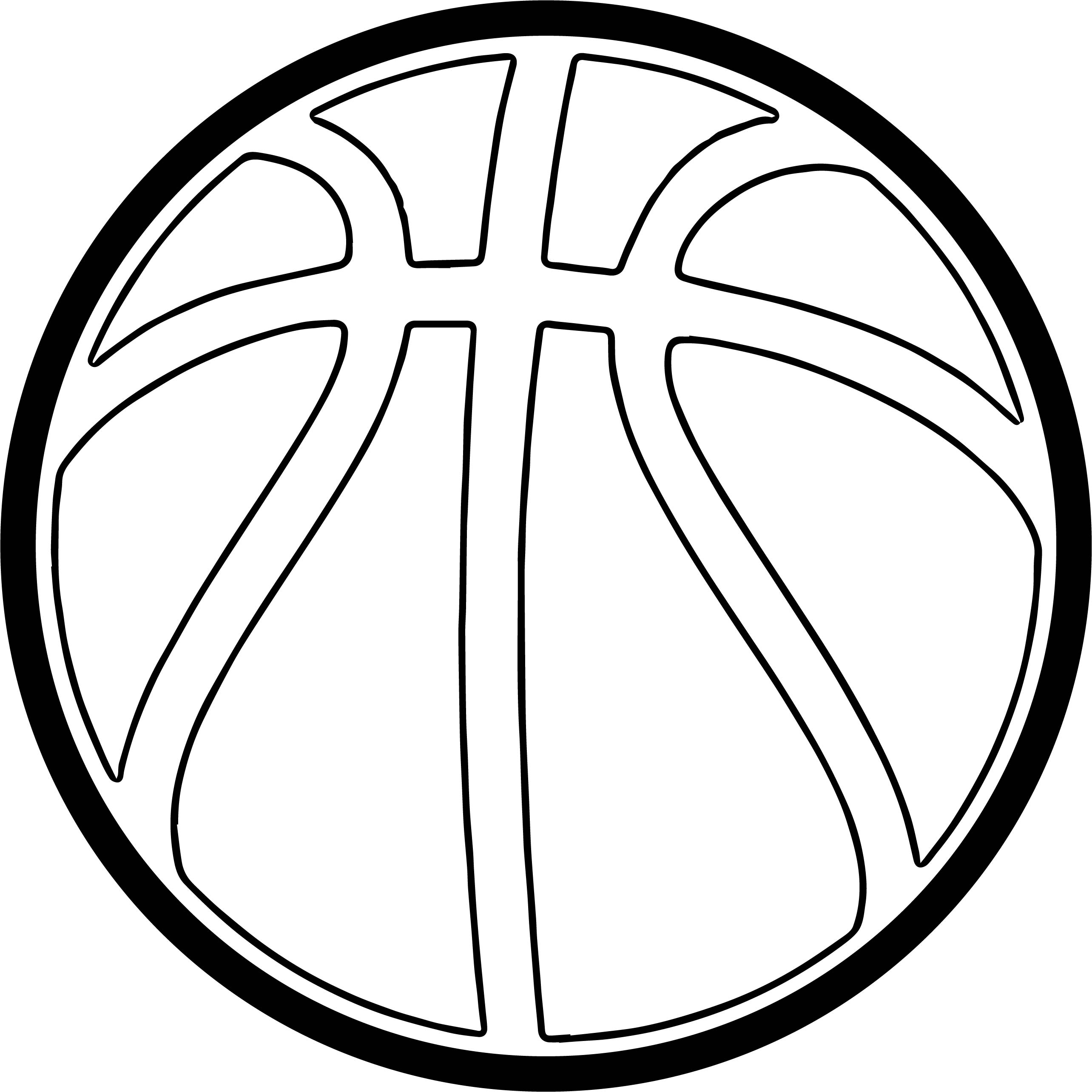 free coloring pages unc logo | Basketball Outline | Free download best Basketball Outline ...
