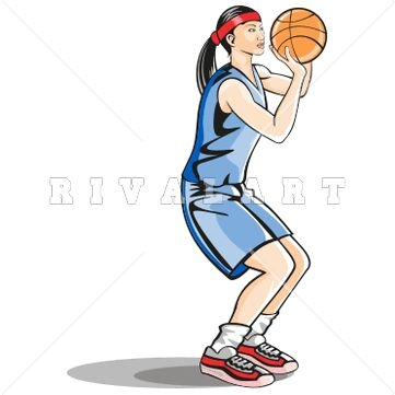 361x361 Basketball Player Shooting Clipart