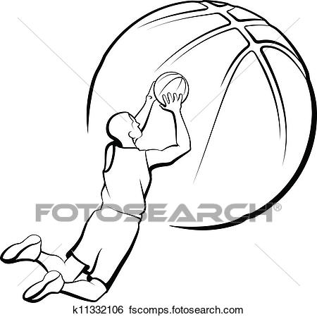 450x450 Clip Art Of Basketball Player Shooting K11332106