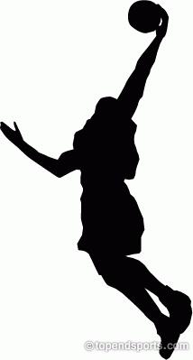 214x399 Girls Basketball Clipart