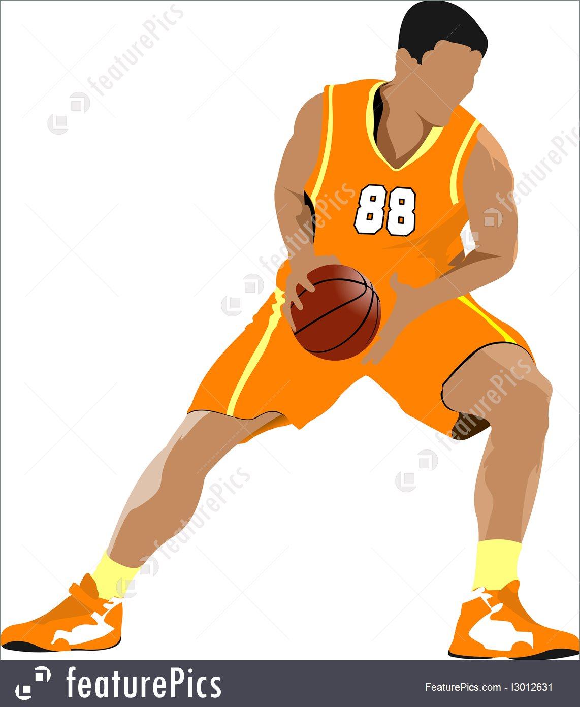 1142x1392 Illustration Of Basketball Players.