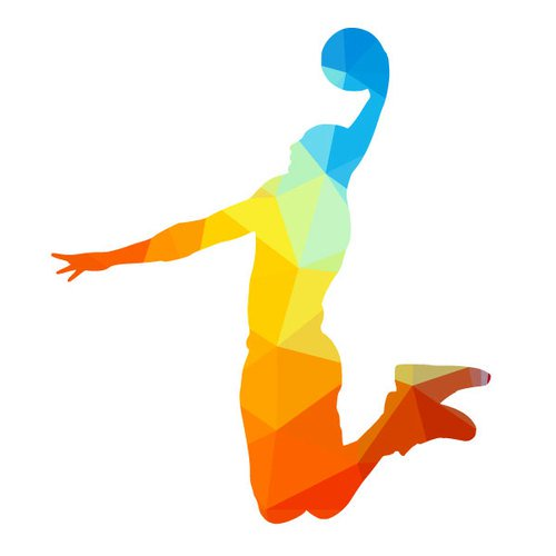 500x500 Slam Dunk By A Basketball Player Public Domain Vectors