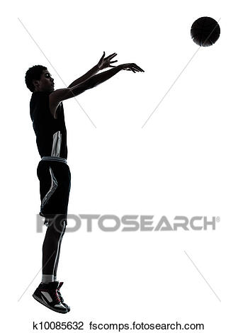 336x470 Stock Photo Of Basketball Player Silhouette K10085632
