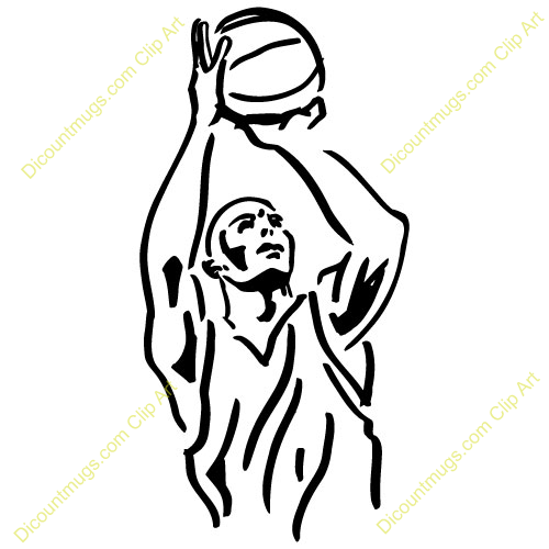 500x500 Clipart Front View Of Man Shooting Basketball