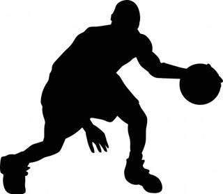 320x279 Basketball Action Basketball Player Silhouette Template, Stencil