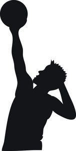 152x300 Basketball Clipart Image