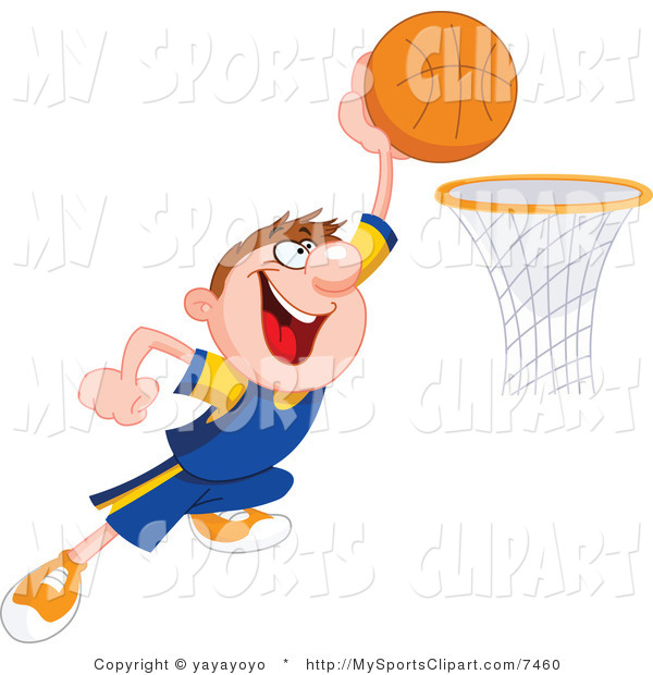 600x620 Sports Clip Art Of A Basketball Player About To Dunk By Yayayoyo