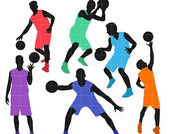 340x270 Basketball Players Digital Clip Art Cute Boys Digital Clip