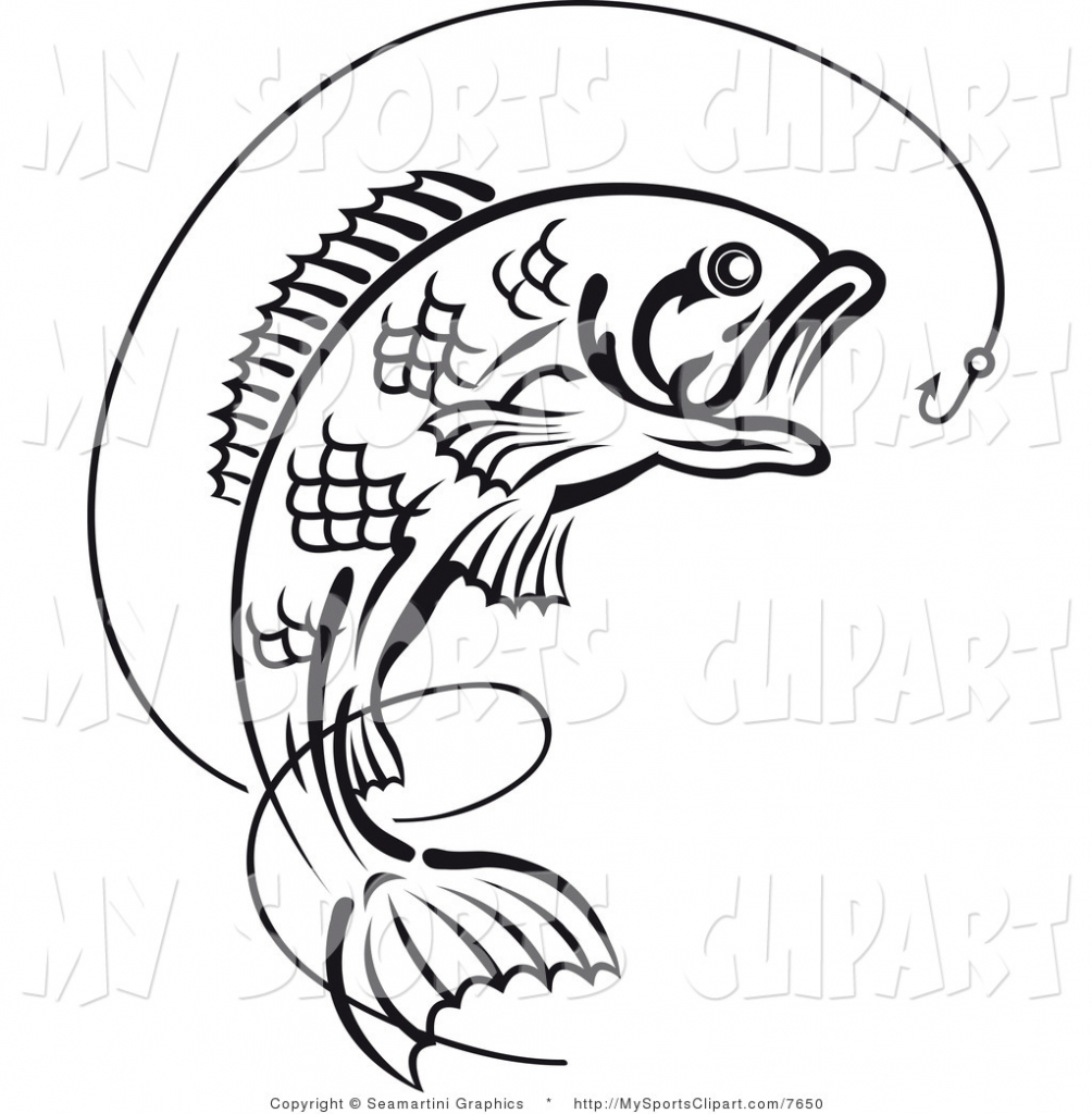 1004x1024 How To Draw A Bass Fish Jumping Bass Fish Clip Art Clipart Panda