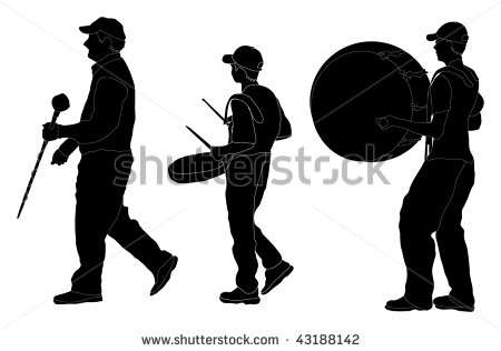 450x316 Marching Band Silhouette Clipart