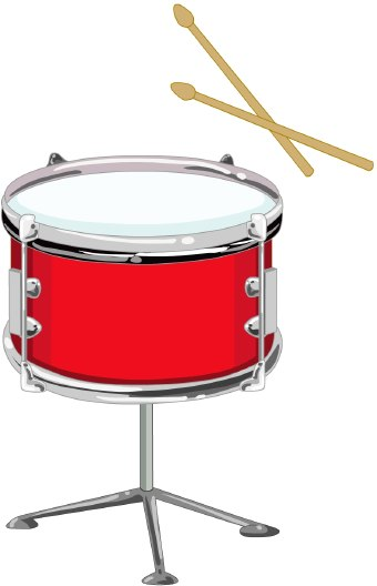 340x528 Snare Drum Red Drum Clipart