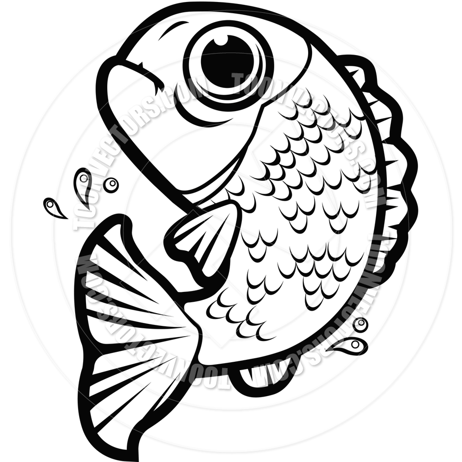 940x940 Fish Jumping (Black And White Clipart Panda