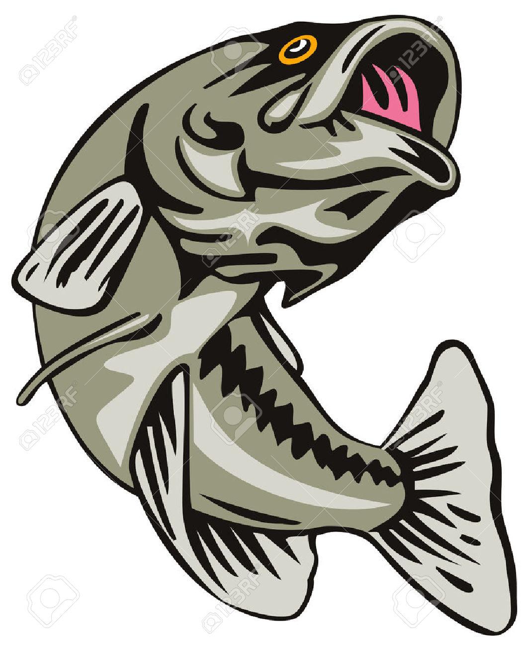 1070x1300 Fishing Clipart Largemouth Bass