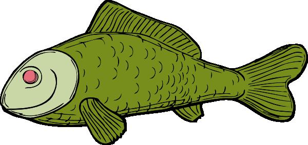 600x283 Green Fish Clip Art