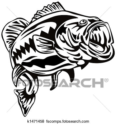 443x470 Stock Illustration Of Largemouth Bass K1471458