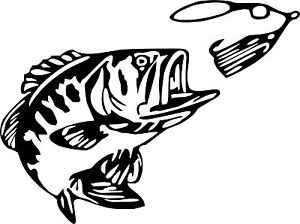 300x224 Buy Bass Fishing Vinyl Decal Bigmouth Lures Fish Truck Boat
