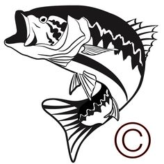 236x236 Fishing Svg File,bass Svg,largemouth Bass Svg File,cutting