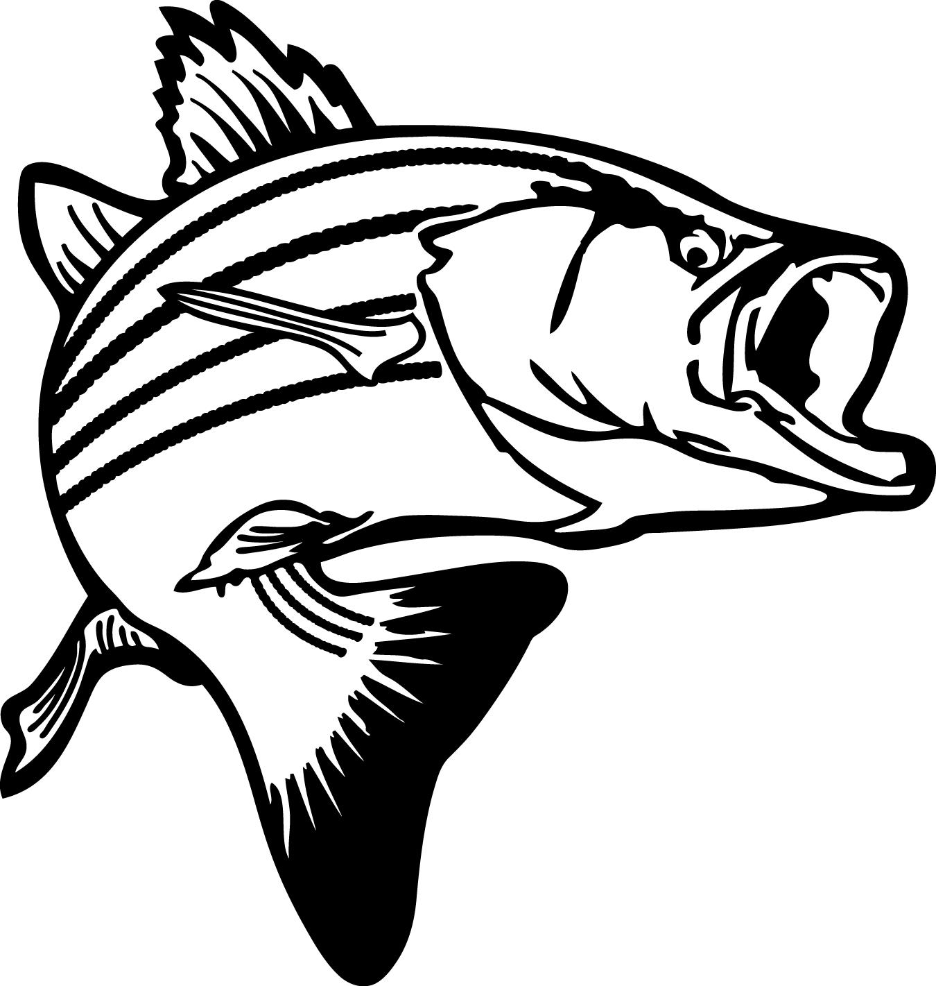 Bass Fish Stencil | Free download best Bass Fish Stencil on ...