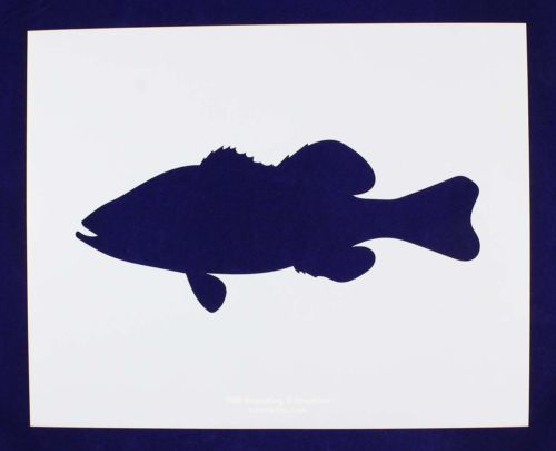 500x405 Bass (Fish) Swimming Stencil Large Set 14 Mil Mylar Painting