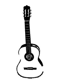 236x333 Acoustic Guitar Drawing