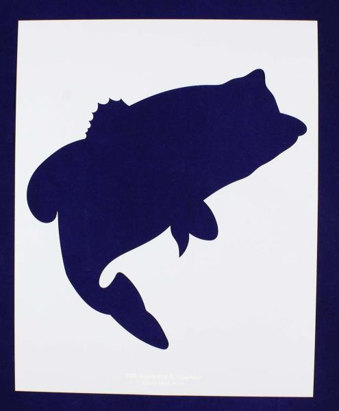 495x600 Bass (Fish) Stencils Large 2 Pc Set 14 Mil Mylar Paintingcrafts