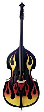 156x390 Thomann Rockabilly Slap Rod Bass Bk Double Bass, Bass