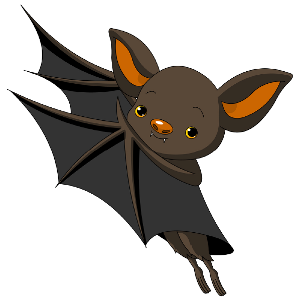 600x600 CLIPART FUNNY BAT fall stuff Bat clip art, Bats