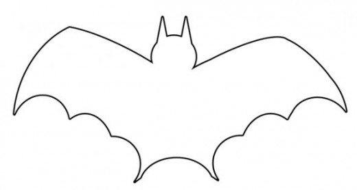 520x278 Bat Outline Clip Art