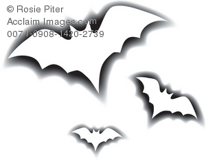 300x236 Art Illustration Of The Outlines Of Flying Bats