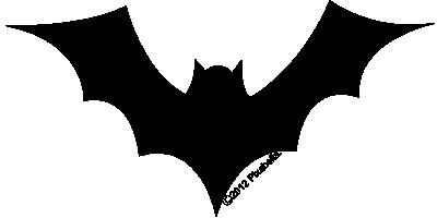 400x200 Bat Clipart Simple