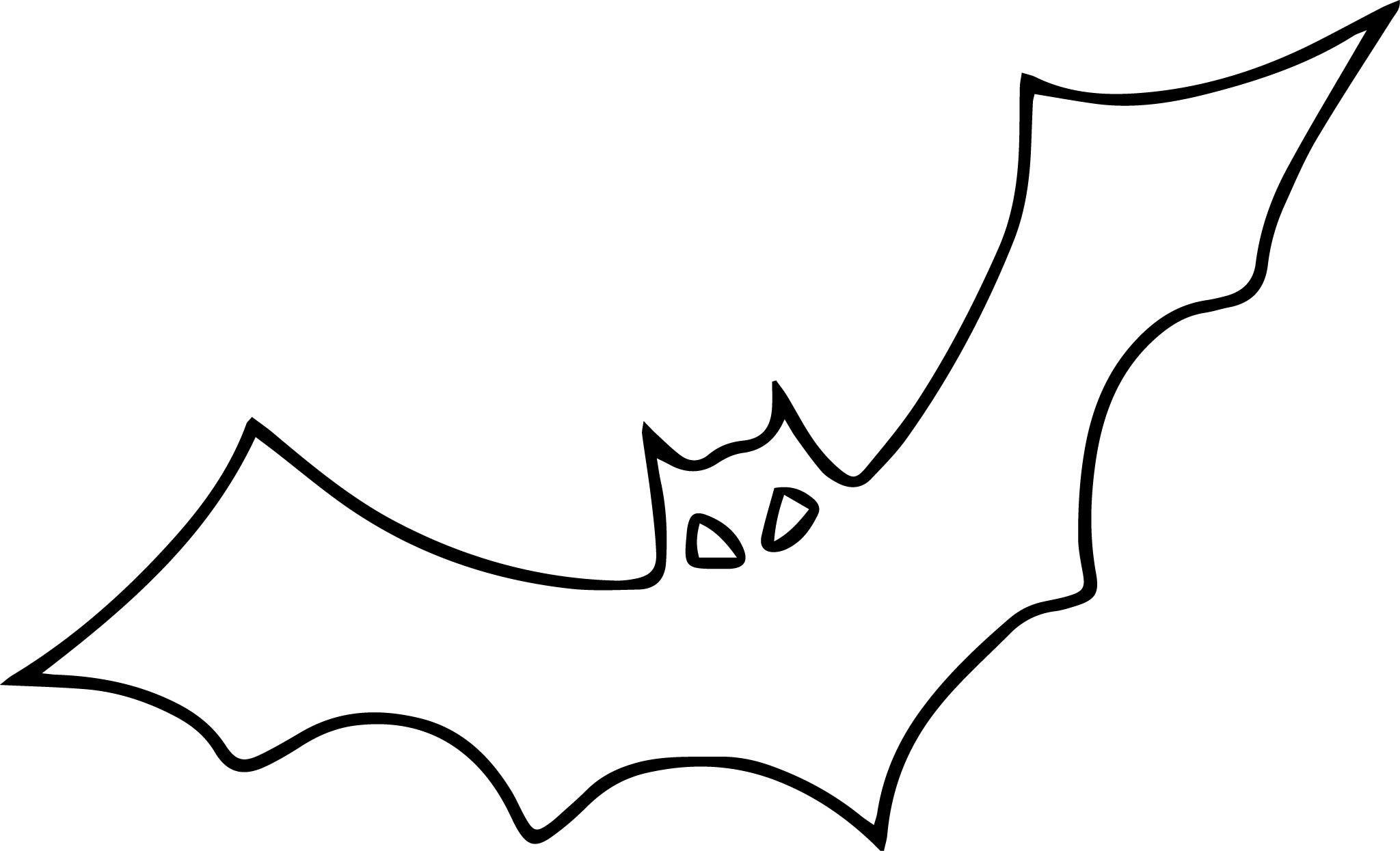 2048x1245 Halloween Bat Coloring Pages Page Image Clipart Images
