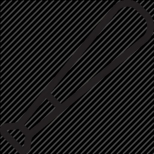 512x511 Baseball Bat Clipart Horizontal