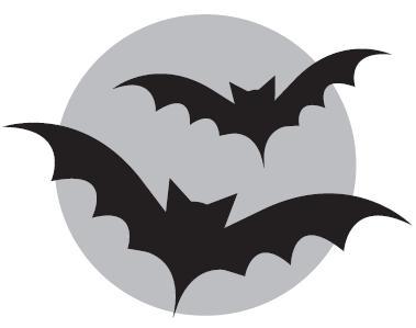 379x299 Bat Outline Clip Art
