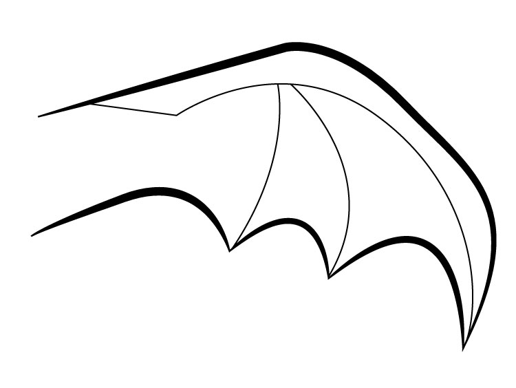 750x564 Drawn Bat Bat Wing