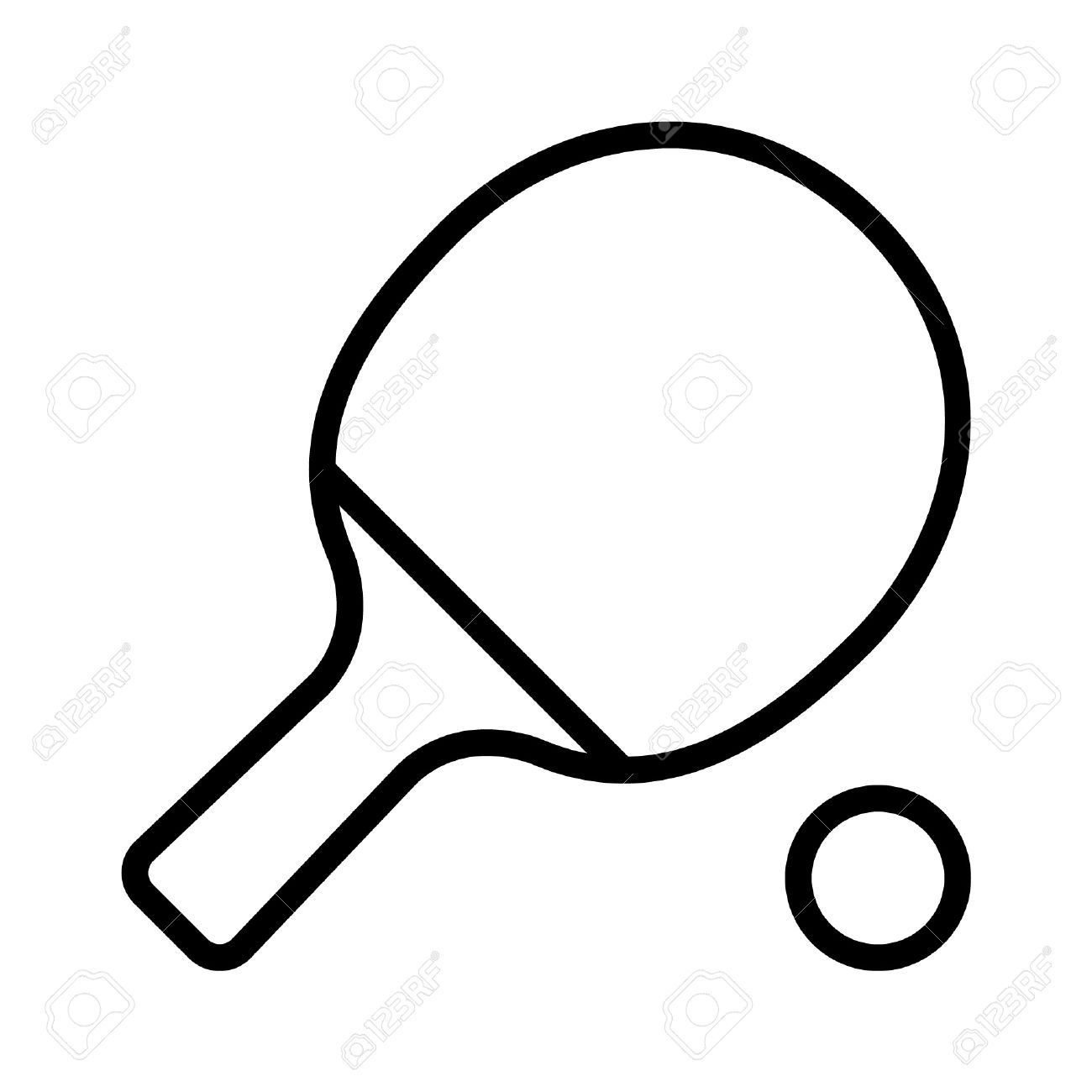1300x1300 Ping Pong Paddle Clipart