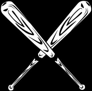 298x294 Baseball Bat Crossed Bats Clip Art