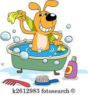 179x194 Dog Bath Clipart And Illustration. 864 Dog Bath Clip Art Vector