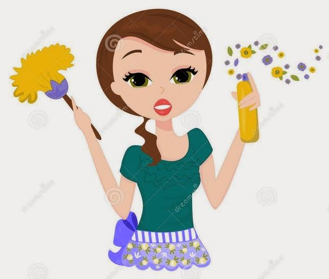 Bathroom Cleaning Clipart