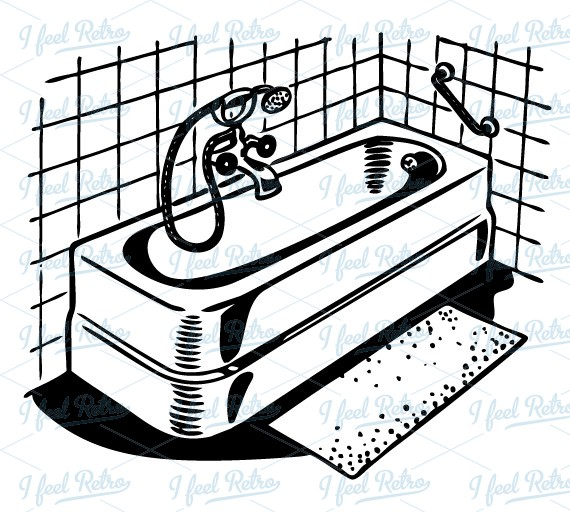 Bathroom Clip Art Black And White: Free Download Best Bathroom