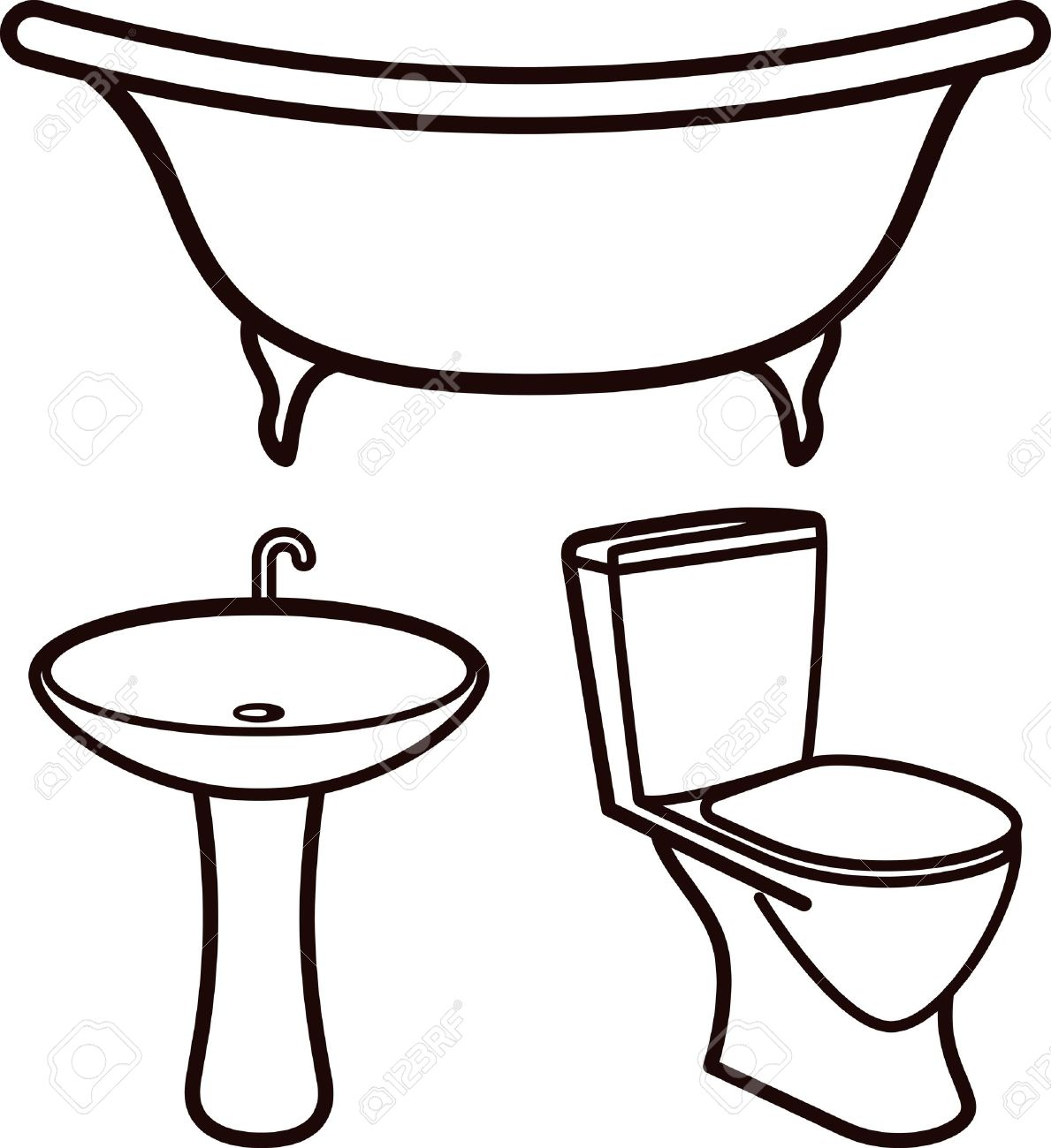 Royalty Free Public Restroom Mirror Clip Art Vector: Free Download Best Bathroom Clipart On