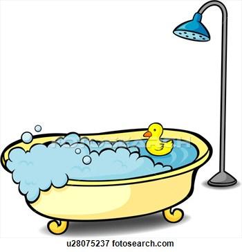 350x364 Clip Art Bath Shower Clipart