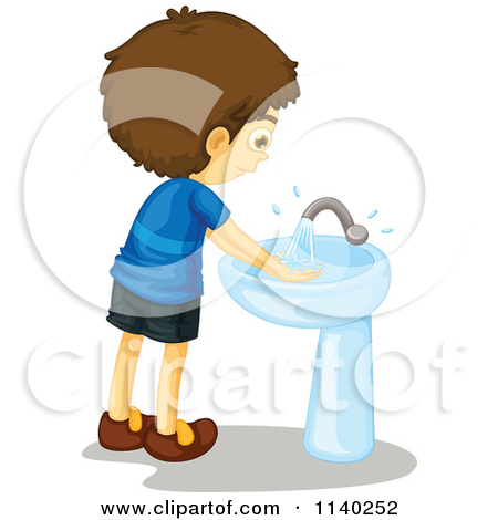 450x470 Clipart Kids Washing Hands